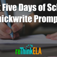 First 5 Days of School Quickwrite Prompts