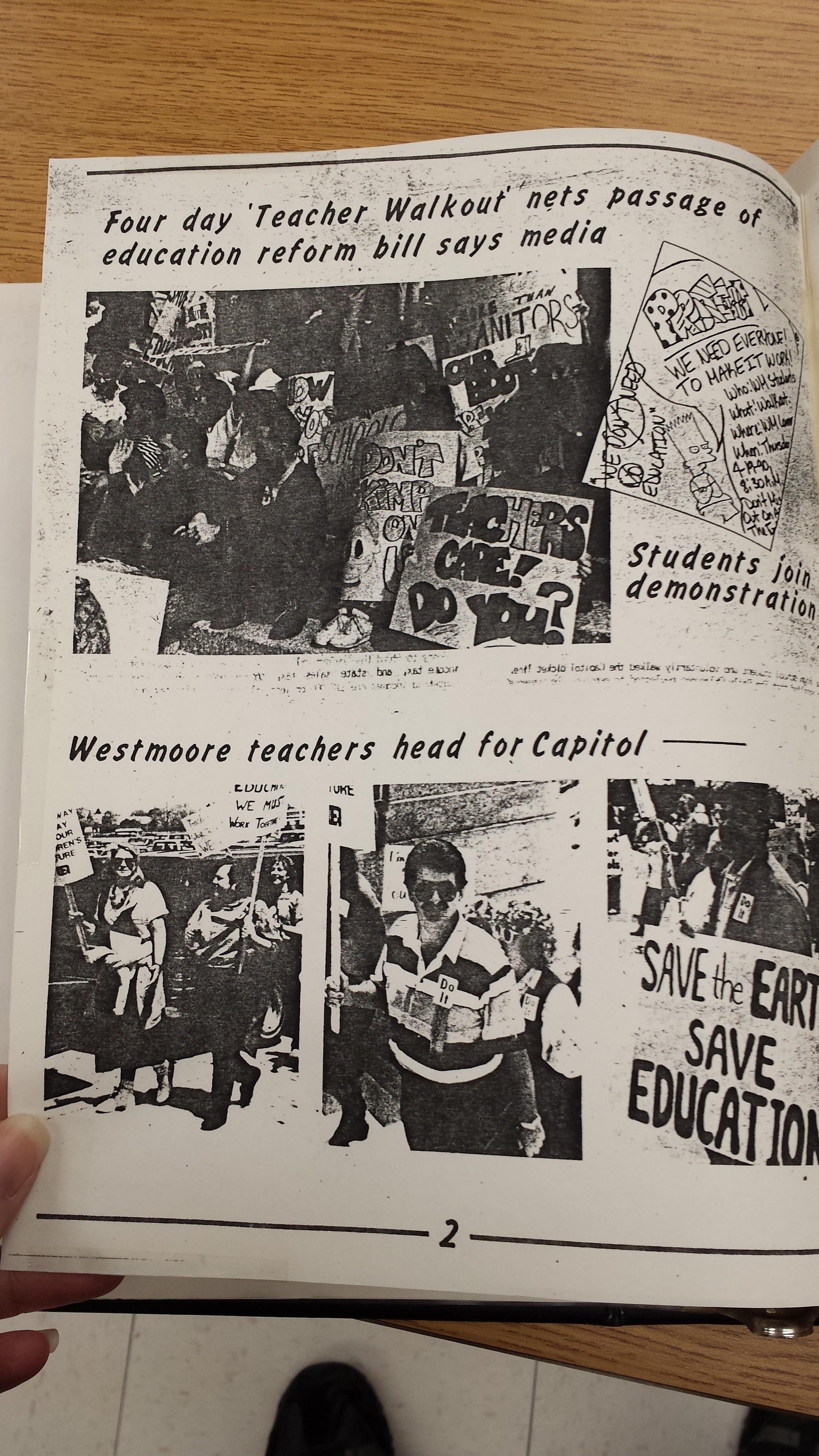 1990 Oklahoma education rally