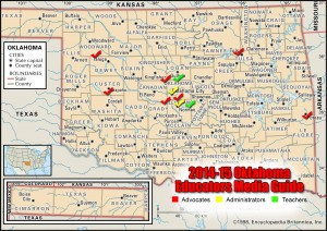 Oklahoma Educators Media Guide Map