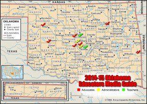 Oklahoma Educators Media Guide Map