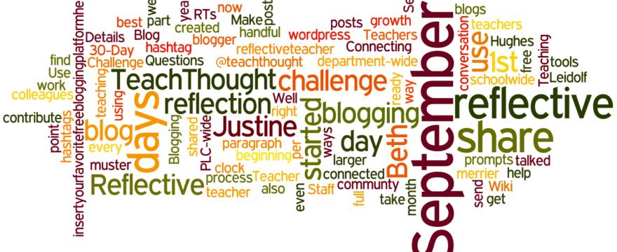 Reflective Teacher Blog Challenge