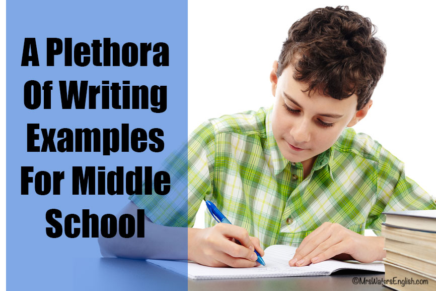 A Plethora Of Writing Examples For Middle School  High School Middle School Writing Examples