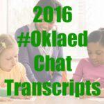 2016 #Oklaed chat transcripts
