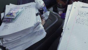 English Teacher Grading Papers