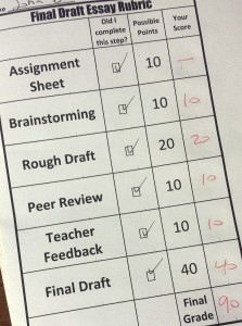 SMART Essay Checklist