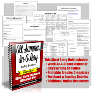 All Summer In A Day Ray Bradbury Short Story Unit With Writing Project