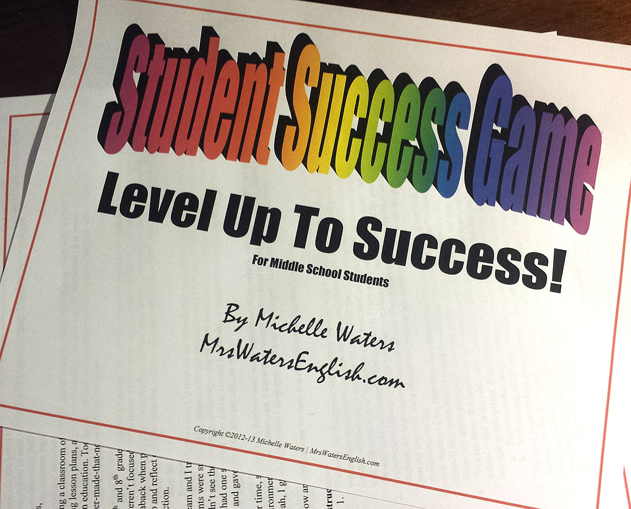 Student Success Game