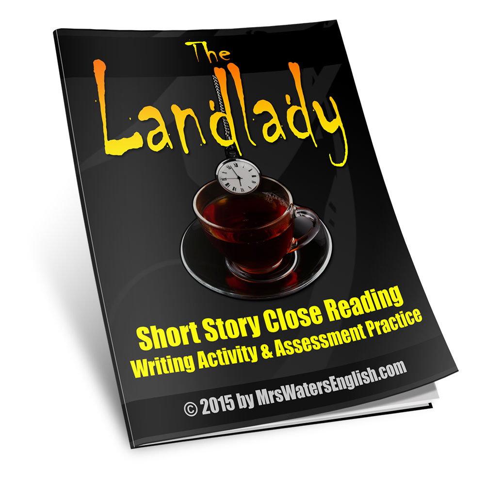 The Landlady by Roald Dahl Close Reading Assessment Practice