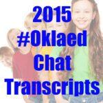 2015 #Oklaed chat transcripts