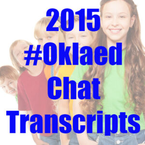 2015 #Oklaed chat transcripts