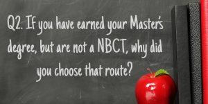 Q2 NBCT Masters