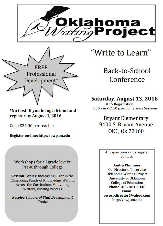 Oklahoma Writing Project Conference