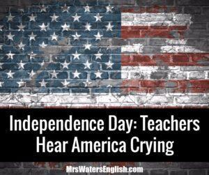 Teachers Hear America Crying