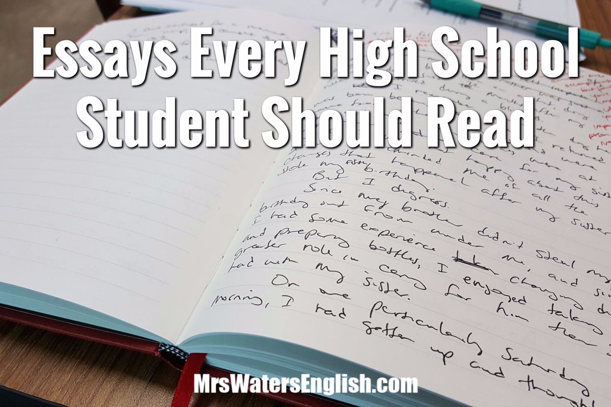 Essays Every High School Student Should Read Essayshighschooljpg