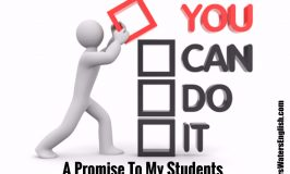 A Promise To My Students