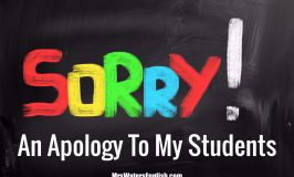 An Apology to My Students