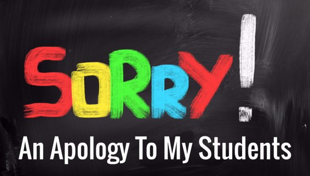 Apology to students
