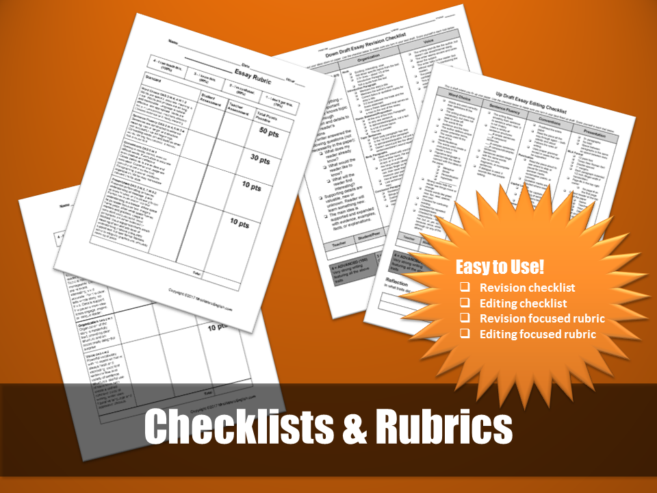 Writing Process Checklists and Rubrics