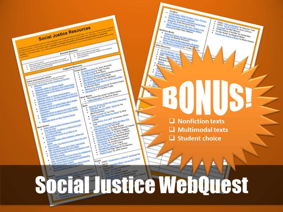 Social Justice Webquest