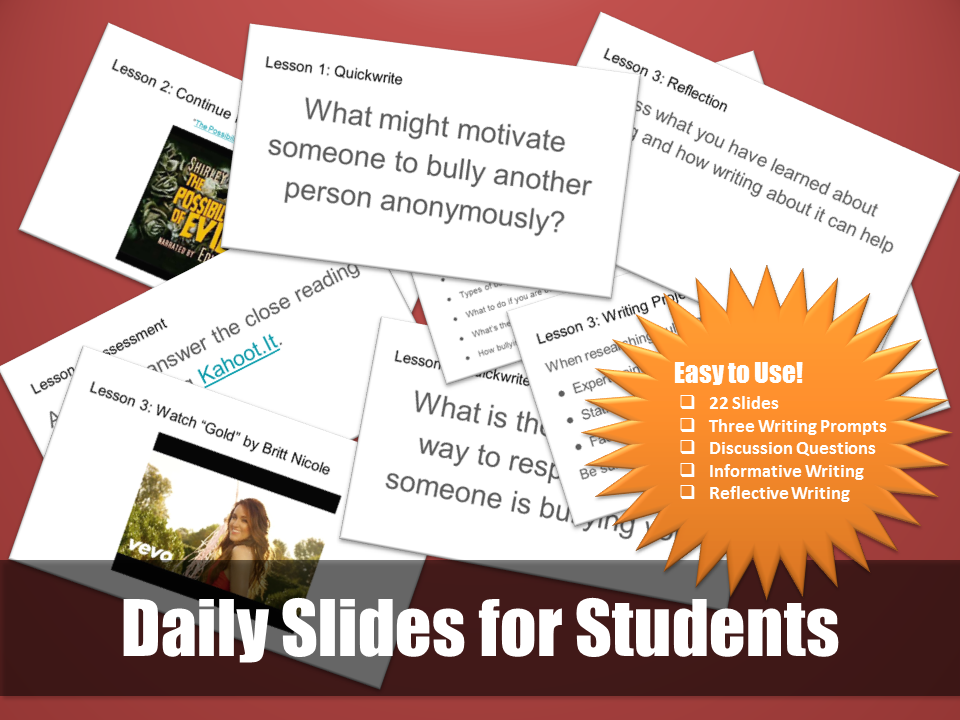 Daily Slides for Students