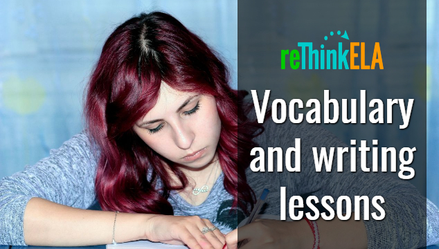 vocabulary and writing lesson