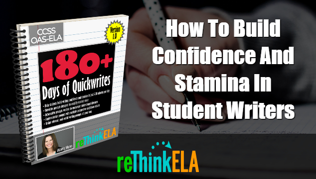 180+ Days of Quickwrites for Secondary English Teachers