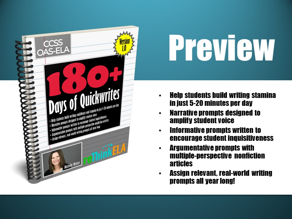 180+ Days of Quickwrites Student Writing Prompts