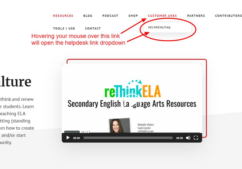 Helpdesk Homepage Link