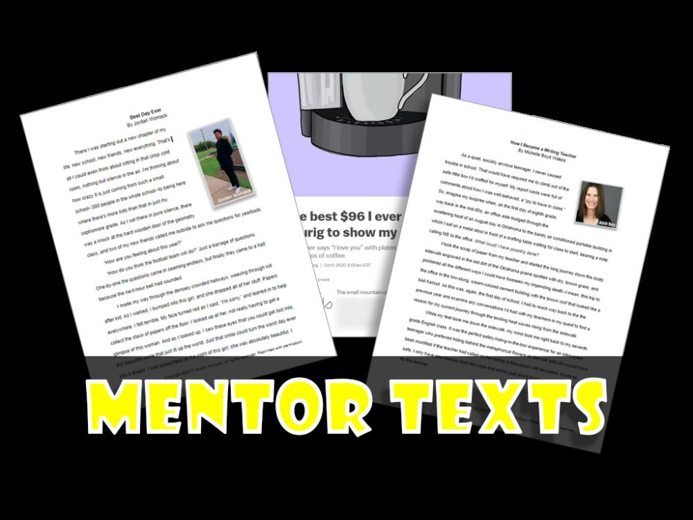 Personal Narrative Mentor Texts